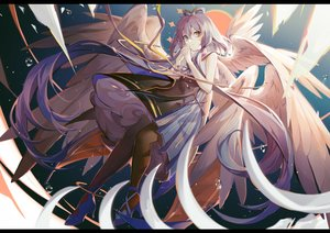 Rating: Safe Score: 71 Tags: dress green_eyes long_hair luo_tianyi purple_hair turkey_(weave7769) twintails vocaloid wings User: BattlequeenYume