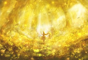 Rating: Safe Score: 55 Tags: bou_nin dress forest lolita_fashion long_hair original tree yellow User: RyuZU