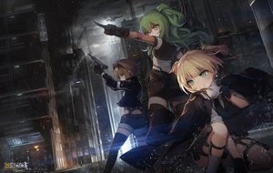Rating: Safe Score: 70 Tags: aircraft anthropomorphism blonde_hair brown_eyes brown_hair building cape city drink garter girls_frontline gloves green_eyes green_hair grizzly_mkv_(girls_frontline) gun industrial jakoujika logo m950a_(girls_frontline) night rain short_hair shorts sunglasses thighhighs twintails water weapon welrod_mkii_(girls_frontline) yellow_eyes zettai_ryouiki User: Nepcoheart