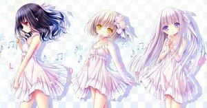 Rating: Safe Score: 88 Tags: black_hair blonde_hair blue_eyes dress flowers harukaze_setsuna original red_eyes scan summer_dress tinkle white_hair yellow_eyes User: kazuto