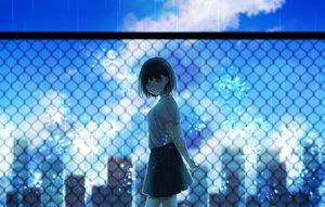 Rating: Safe Score: 18 Tags: blue clouds original rain rito_0x0 seifuku summer water User: FormX