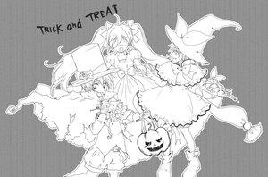 Rating: Safe Score: 24 Tags: dress gloves gray halloween hat hatsune_miku kagamine_len kagamine_rin male monochrome pumpkin sakanashi_haruka vampire vocaloid witch User: MissBMoon