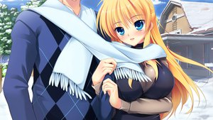 Rating: Safe Score: 62 Tags: blonde_hair blue_eyes game_cg kazamatsuri_koromo long_hair manatsu_no_yoru_no_yuki_monogatari mikeou scarf User: Wiresetc