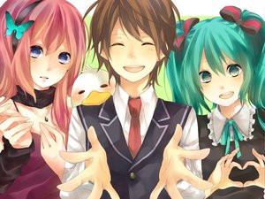 Rating: Safe Score: 50 Tags: hatsune_miku megurine_luka twintails vocaloid User: HawthorneKitty