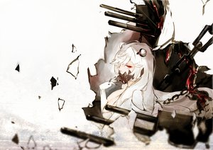 Rating: Safe Score: 103 Tags: anthropomorphism chain elbow_gloves gloves kantai_collection long_hair midway_hime nello_(luminous_darkness) red_eyes weapon white_hair User: Flandre93