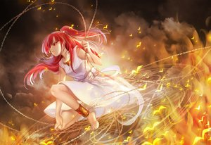 Rating: Safe Score: 215 Tags: barefoot chain dress fire huazha01 long_hair magic magi_the_labyrinth_of_magic morgiana red_eyes red_hair User: FormX