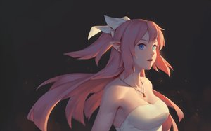 Rating: Safe Score: 19 Tags: bigrbear blue_eyes breasts cleavage close long_hair necklace original pink_hair pointed_ears User: BattlequeenYume