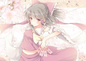 Rating: Safe Score: 105 Tags: aliasing blush bow hakurei_reimu hasuga_sea japanese_clothes miko navel ofuda touhou User: Flandre93