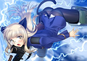 Rating: Safe Score: 198 Tags: animal_ears glasses gun panties pantyhose perrine-h_clostermann strike_witches suzume_inui tail underwear weapon User: opai
