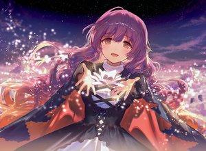 Rating: Safe Score: 59 Tags: ainy77 dress hijiri_byakuren long_hair purple_hair sky stars touhou User: BattlequeenYume