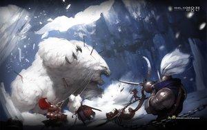 Rating: Safe Score: 45 Tags: animal armor bear blood mabinogi mabinogi_heroes original snow weapon User: Tiki