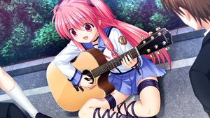 Rating: Safe Score: 49 Tags: angel_beats! fang game_cg guitar instrument key na-ga yui_(angel_beats!) User: Tensa