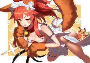 Rating: Questionable Score: 91 Tags: animal_ears apron bell cat_smile collar fate/grand_order fate_(series) foxgirl garter gloves long_hair naked_apron pink_hair ponytail sukocchi tail tamamo_cat tamamo_no_mae_(fate) yellow_eyes User: BattlequeenYume