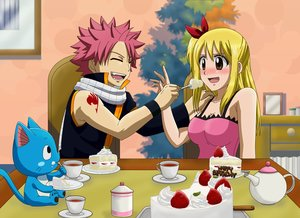 Rating: Safe Score: 2 Tags: animal blonde_hair bluesnowcat blush breasts brown_eyes cake cat drink fairy_tail food happy_(fairy_tail) long_hair lucy_heartfilia male natsu_dragneel pink_hair scarf short_hair tattoo waifu2x User: RyuZU