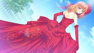 Rating: Safe Score: 98 Tags: blue_eyes bluette_nicolette_planquette dress elbow_gloves game_cg gloves nishimata_aoi orange_hair otome_riron_to_sono_shuuhen:_ecole_de_paris User: Wiresetc
