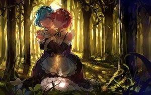 Rating: Safe Score: 113 Tags: 2girls blue_hair forest haraguroi_you maid pantyhose pink_hair ram_(re:zero) rem_(re:zero) re:zero_kara_hajimeru_isekai_seikatsu shoujo_ai tree twins User: mattiasc02