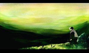 Rating: Safe Score: 55 Tags: ginko_(mushishi) grass green karibusa_tanyuu male mushishi scenic yatsude User: rodri1711