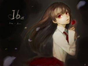 Rating: Safe Score: 19 Tags: brown_hair flowers ib ib_(ib) long_hair petals red_eyes rose ruiji_yuizaki User: FormX