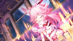 Rating: Safe Score: 74 Tags: animal animal_ears bunny_ears honkai_impact long_hair moon pink_hair sougishi_ego yae_sakura_(benghuai_xueyuan) User: RyuZU
