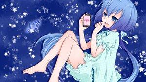 Rating: Safe Score: 56 Tags: aoki_lapis blue pajamas stars vocaloid yayoi_(egoistic_realism) User: MissBMoon