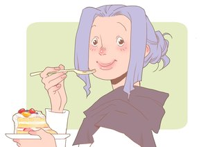 Rating: Safe Score: 9 Tags: black_eyes blue_hair cake food hoodie kumoi_ichirin tagme_(artist) touhou User: otaku_emmy
