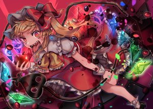 Rating: Safe Score: 29 Tags: apple flandre_scarlet food fruit tagme_(artist) touhou vampire wings User: RyuZU
