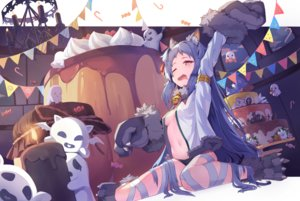 Rating: Questionable Score: 82 Tags: animal_ears bell blue_hair blush cake candy catgirl cosplay food gloves halloween ilxodidli izumo_miyako loli long_hair navel no_bra open_shirt orange_eyes panties princess_connect! underwear wink User: BattlequeenYume