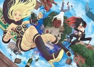 Rating: Safe Score: 49 Tags: apple aqua_eyes black_hair blonde_hair boots breasts clouds drink food fruit gravity_daze kat_(gravity_daze) long_hair male navel orange_eyes scarf short_hair shorts sky tagme_(artist) tagme_(character) yellow_eyes User: RyuZU