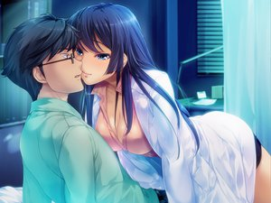 Rating: Safe Score: 66 Tags: blue blue_eyes blue_hair game_cg shindan_no_kekka_sore_wa_koi_no_yamai_desu User: Maboroshi