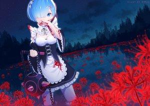 Rating: Safe Score: 102 Tags: blood blue_eyes blue_hair maid pantyhose rem_(re:zero) re:zero_kara_hajimeru_isekai_seikatsu rimuu sky water User: RyuZU