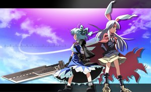 Rating: Safe Score: 41 Tags: advent_cirno animal_ears bunny_ears bunnygirl cirno cosplay fairy reisen_udongein_inaba touhou User: Tensa