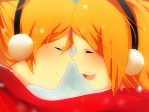 Rating: Safe Score: 33 Tags: achiki blonde_hair close kagamine_len kagamine_rin scarf short_hair snow vocaloid User: MissBMoon