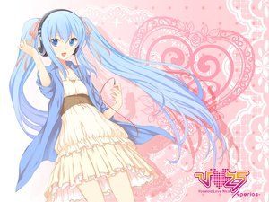 Rating: Safe Score: 95 Tags: 47agdragon blue_eyes blue_hair hatsune_miku headphones jpeg_artifacts long_hair twintails vocaloid User: opai
