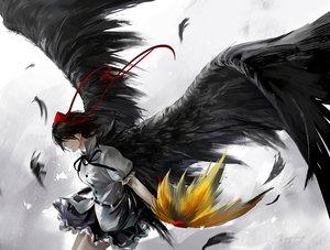 Rating: Safe Score: 129 Tags: kzcjimmy red_eyes shameimaru_aya touhou wings User: FormX