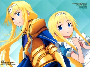 Rating: Safe Score: 41 Tags: alice_schuberg apron armor blonde_hair blue_eyes cape headband loli long_hair scan sword_art_online sword_art_online_alicization watermark yokota_takumi User: RyuZU