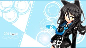 Rating: Safe Score: 66 Tags: animal_ears black_hair ch@r necro-san original photoshop tie yellow_eyes User: feiyuelisky