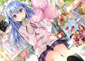 Rating: Safe Score: 42 Tags: blue_eyes blue_hair blush bunny candy cropped flowers food fruit lollipop long_hair natsume_eri original scan skirt strawberry User: BattlequeenYume