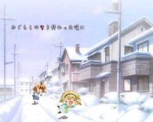 Rating: Safe Score: 44 Tags: blood higurashi_no_naku_koro_ni houjou_satoko knife ryuuguu_rena winter User: Oyashiro-sama