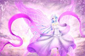 Rating: Safe Score: 139 Tags: blue_hair butterfly dress original purple_eyes ulquiorra0 wings User: HawthorneKitty