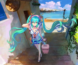 Rating: Safe Score: 182 Tags: blue_eyes blue_hair clouds hatsune_miku landscape long_hair scenic skirt sky teddy_yang twintails vocaloid User: FormX