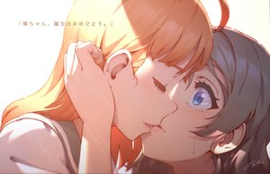 Rating: Safe Score: 48 Tags: 2girls black_hair blue_eyes blush close kiss love_live!_school_idol_project love_live!_sunshine!! orange_hair regition seifuku shoujo_ai signed takami_chika watanabe_you User: RyuZU