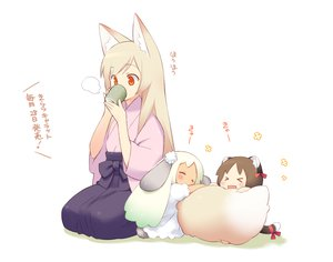 Rating: Safe Score: 218 Tags: animal_ears catgirl chibi foxgirl gayarou japanese_clothes original tail white User: PAIIS