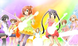 Rating: Safe Score: 16 Tags: akiyama_mio black_eyes black_hair blonde_hair blue_eyes brown_eyes brown_hair dress drums group guitar hirasawa_ui hirasawa_yui instrument kisuke_(akutamu) k-on! kotobuki_tsumugi long_hair nakano_azusa pantyhose short_hair shorts skirt suzuki_jun tainaka_ritsu thighhighs twintails waifu2x wink User: RyuZU