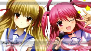 Rating: Questionable Score: 57 Tags: angel_beats! blonde_hair brown_eyes pink_eyes pink_hair ribbons yui_(angel_beats!) yusa User: mikucchi