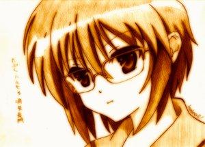 Rating: Safe Score: 38 Tags: glasses godees monochrome nagato_yuki suzumiya_haruhi_no_yuutsu User: SciFi