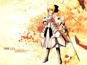 Rating: Safe Score: 33 Tags: fate/stay_night fate/unlimited_codes saber saber_lily sword weapon User: gits_sac