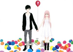 Rating: Safe Score: 27 Tags: just_be_friends_(vocaloid) megurine_luka vocaloid white yunomi User: Destroying