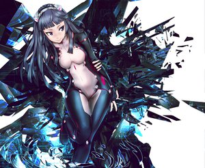 Rating: Safe Score: 223 Tags: aqua_hair blue_eyes bodysuit guilty_crown infinote long_hair tsugumi User: opai