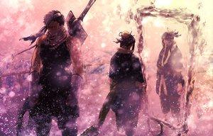 Rating: Safe Score: 149 Tags: all_male gloves haku_(naruto) japanese_clothes male mask mirror momochi_zabuza naruto reflection snow sword weapon User: opai