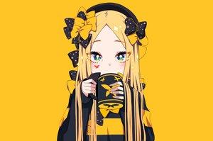 Rating: Safe Score: 65 Tags: abigail_williams_(fate/grand_order) aqua_eyes blonde_hair bow close drink fate/grand_order fate_(series) hat long_hair tyureu yellow User: otaku_emmy